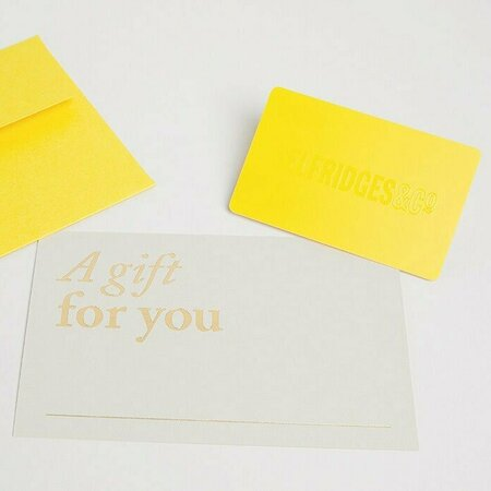Selfridges - Eco Paper Gift Cards